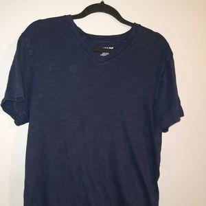 Vintage Blue V-Neck T Size
